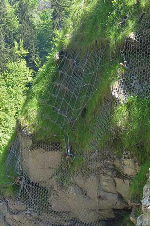 Special slope reinforcement, rock protection