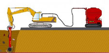 Embankment foundation by soil mixing and injection